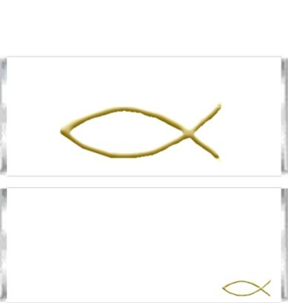 Gold Christian Fish Candy Bar Wrappers