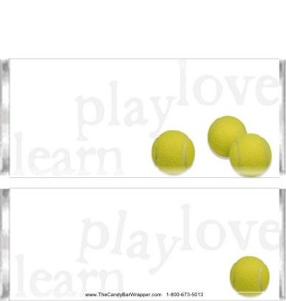 Tennis Candy Bar Wrappers
