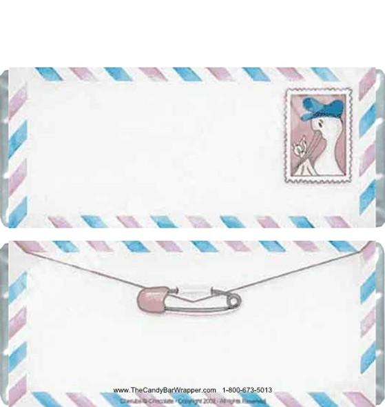 Stork Letter Candy Wrapper