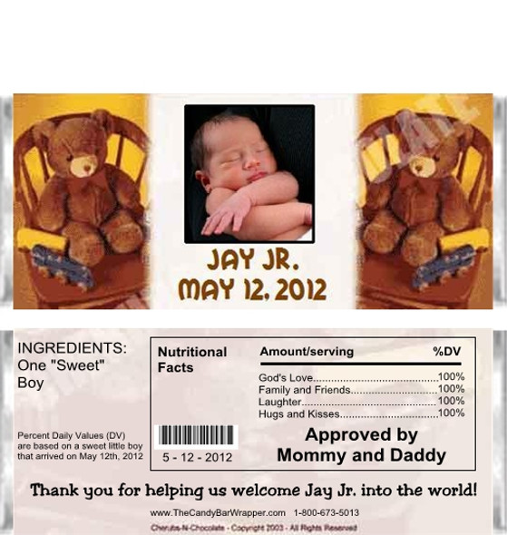 Baby Bears Candy Wrapper Sample