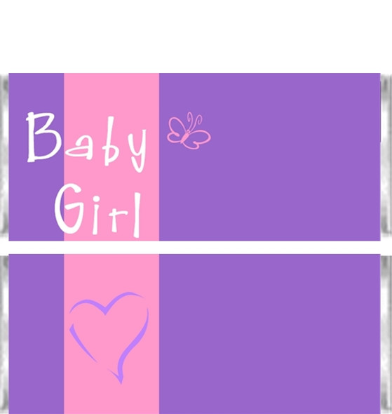 ABC Baby Girl Candy Wrappers