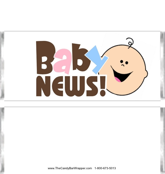 Baby News Candy Bar Wrappers