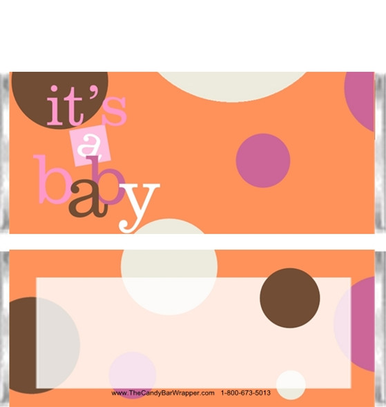 Polka Dot Baby Candy Bar Wrappers