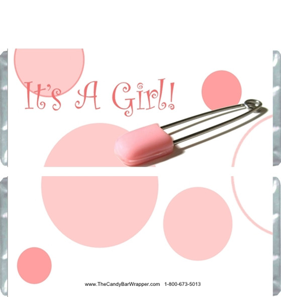 It's a Girl Candy Bar Wrappers
