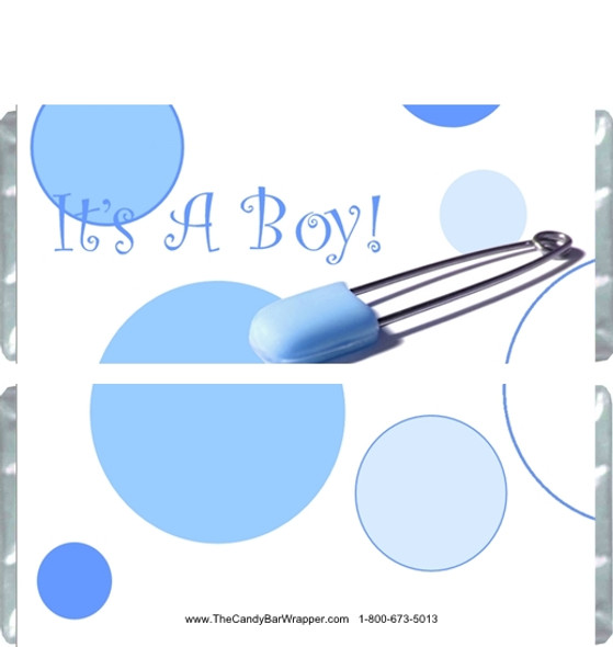 It's a Boy Candy Bar Wrappers