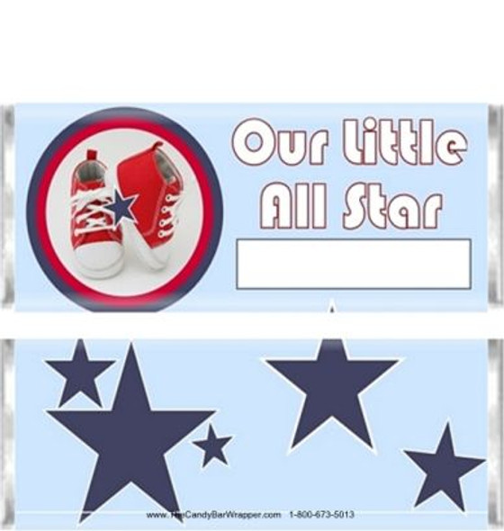 Our Little All Star Candy Wrappers