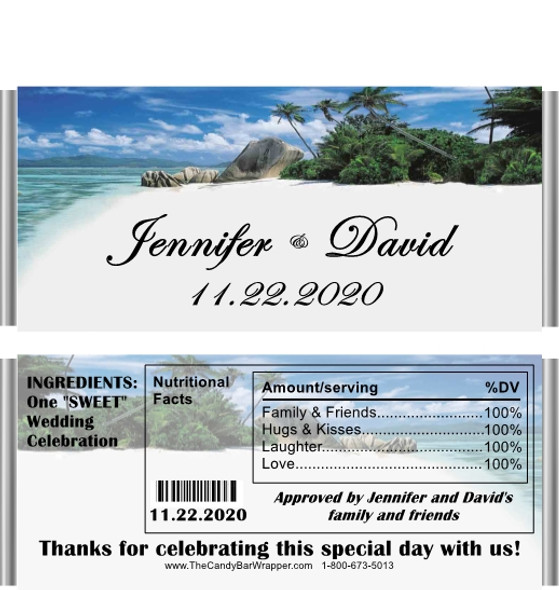 Tropical Candy Wrappers with Nutritional Label