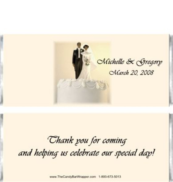 Cake Topper Candy Bar Wrappers Sample