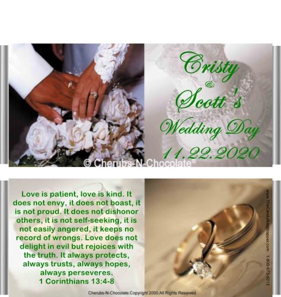 Wedding Elegance 2 Candy Bar Wrapper