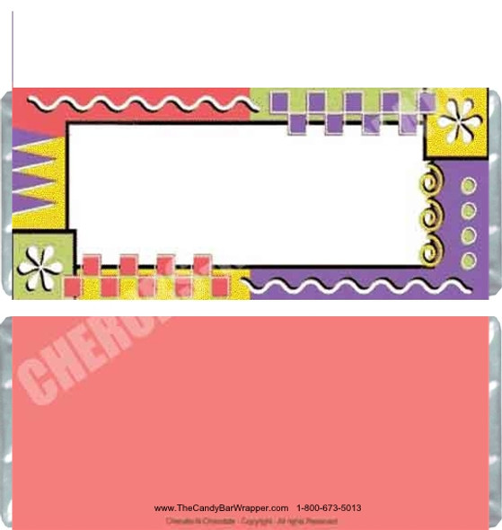 Geometric Border Candy Wrappers