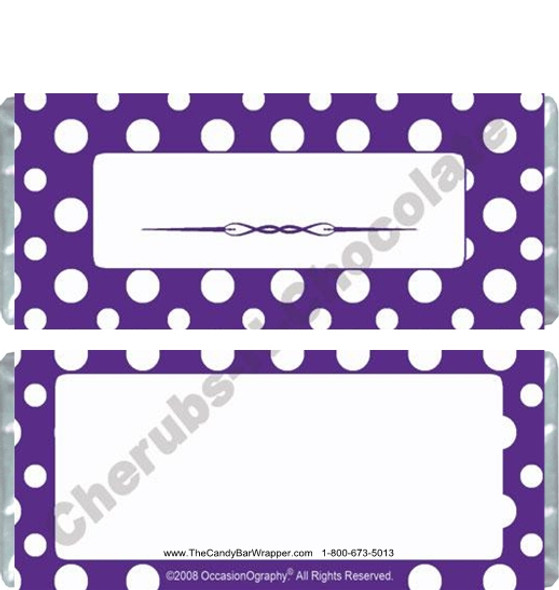 Purple Polka Dot Candy Wrappers