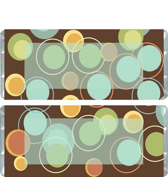 Brown Polka Dot Candy Wrapper