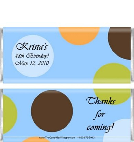 Brown Polka Dots Candy Wrappers Sample