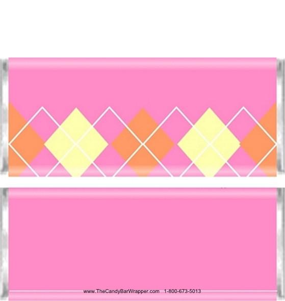 Pink Plaid Candy Bars