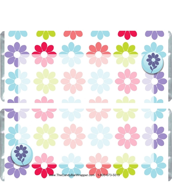 Flower Power Candy Bar Wrappers