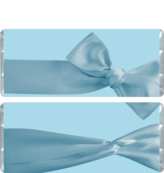 Blue Bow Candy Bar Wrappers