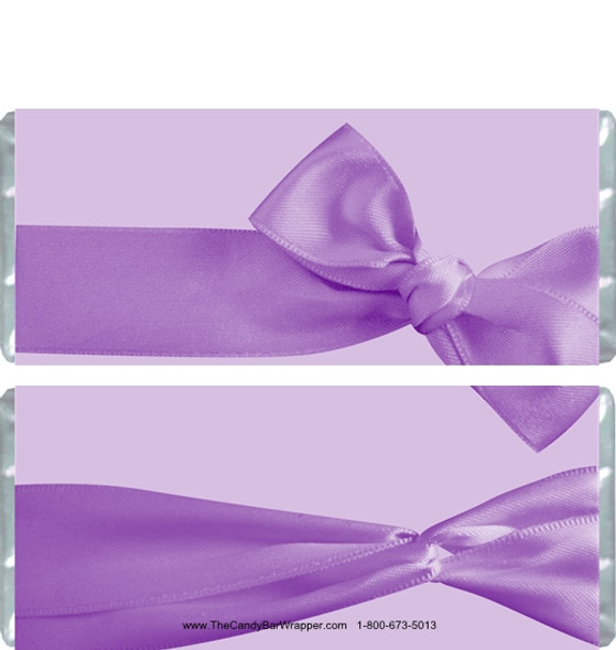 Purple Bow Candy Bar Wrappers