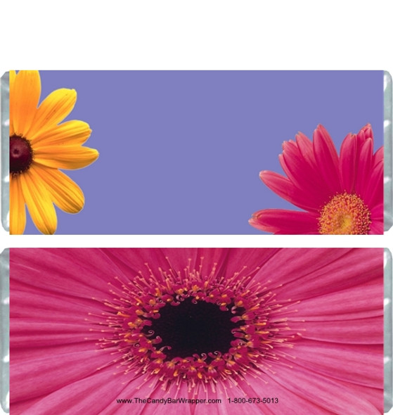 Flowers Candy Bar Wrappers