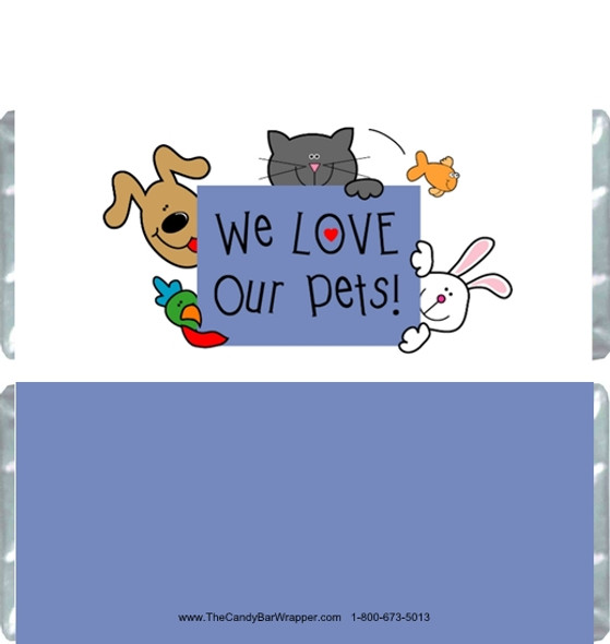 Pet Love Candy Bar Wrappers