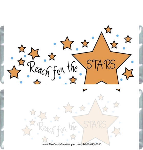 Reach for the Stars Candy Bar Wrappers