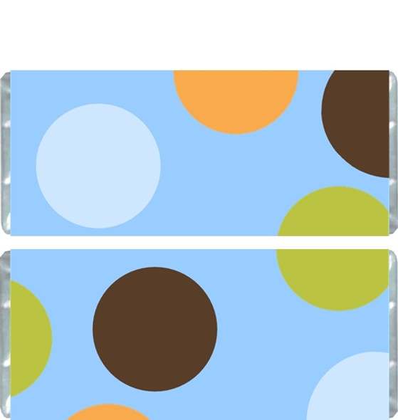 Blue Polka Dot Candy Bar Wrappers