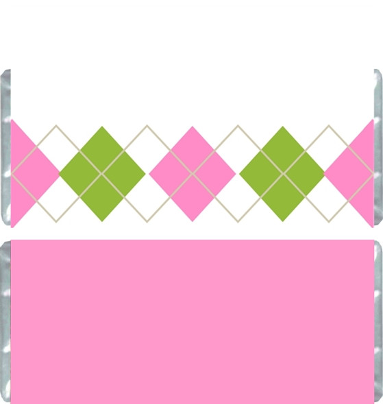 Bright Plaid Candy Bar Wrappers