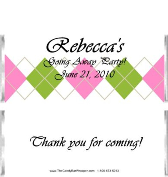 Pastel Plaid Candy Bar Wrappers Sample