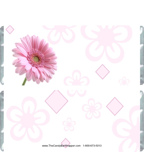 Pink Daisy Candy Bar Wrappers