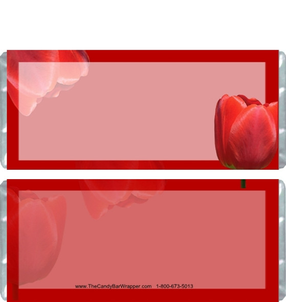 Red Tulip Candy Bar Wrappers