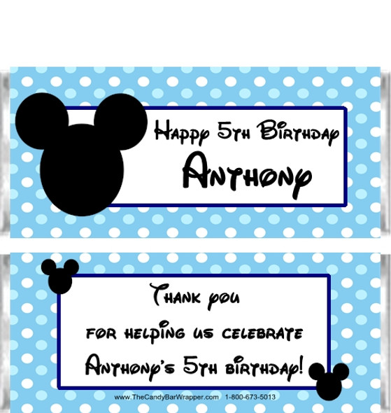Mouse Ears Boy Candy Wrappers