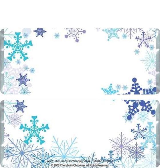 Snowflakes Candy Wrappers