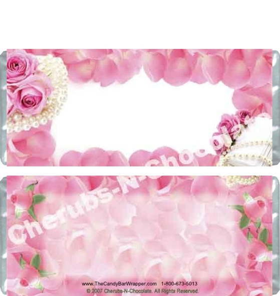Pink Roses Candy Wrappers