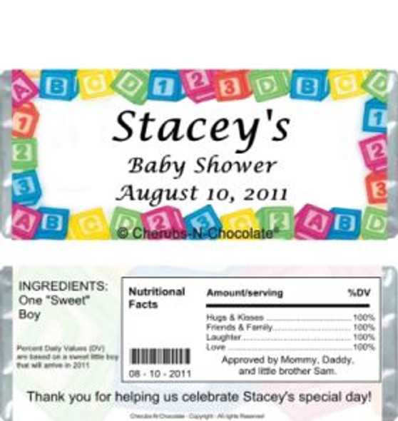 Baby Blocks Candy Wrappers Sample