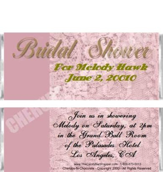 Bridal Shower 1 Candy Wrapper Sample