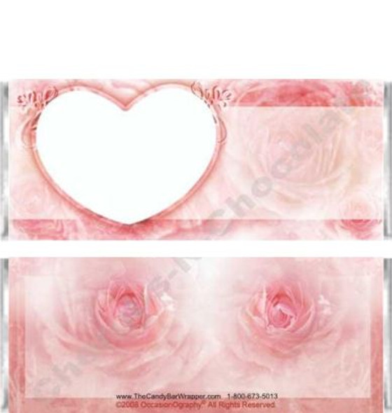 Pink Rose Candy Wrappers