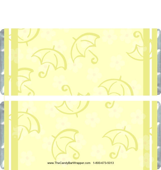 Yellow Design Candy Bar Wrappers