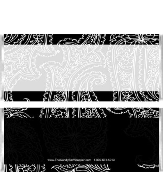 Black Paisley Candy Bar Wrappers