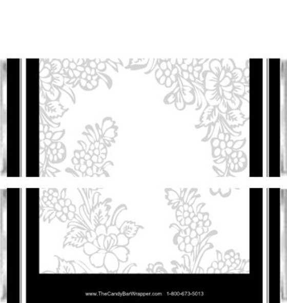 Black Elegance Candy Bar Wrappers
