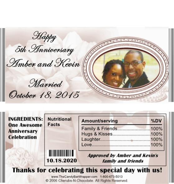 Candy Wrapper Wedding Favor Sample