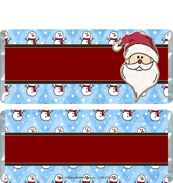 Snow Santa Candy Wrappers