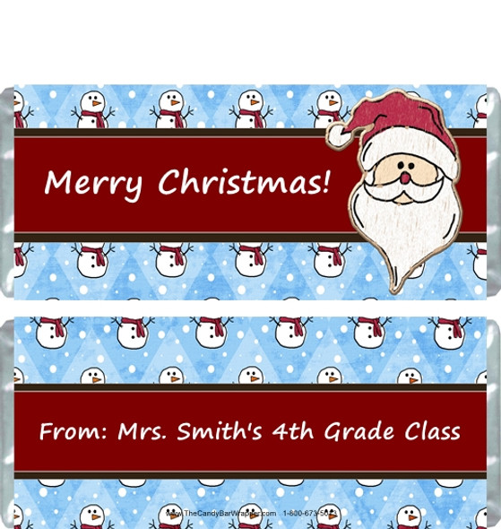 Snow Santa Candy Wrappers Sample