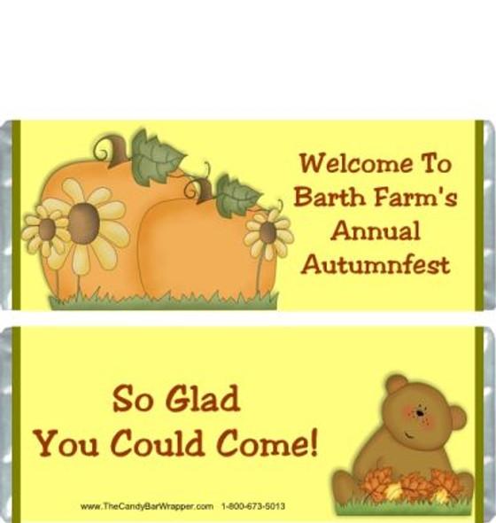 Autumn Bear Candy Bar Wrappers