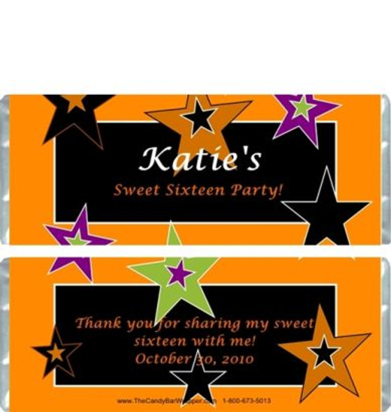 Halloween Stars Candy Wrappers