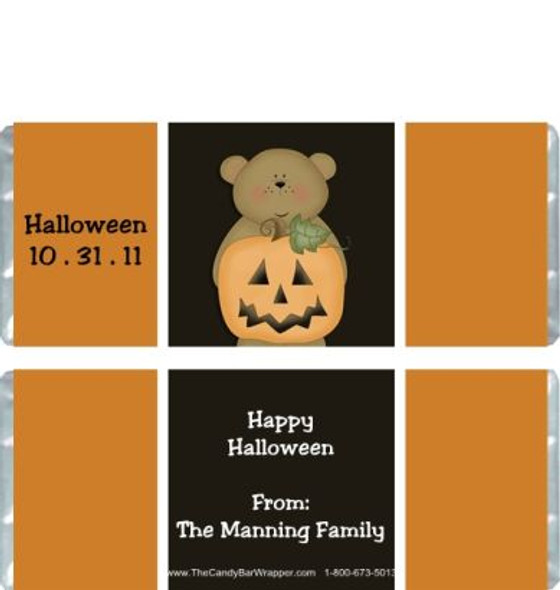 Halloween Bear Candy Wrappers