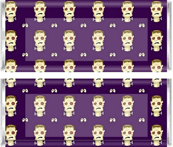 Halloween Frankenstein Candy Wrappers