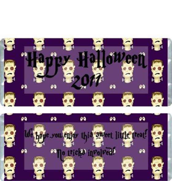 Halloween Frankenstein Candy Wrappers Sample