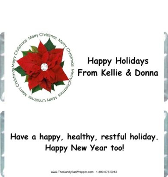 Poinsettia Candy Wrappers