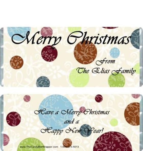 Christmas Polka Dot Candy Wrappers