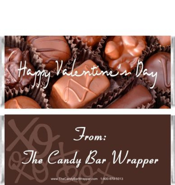 Happy Valentine's Day Candy Wrappers Sample