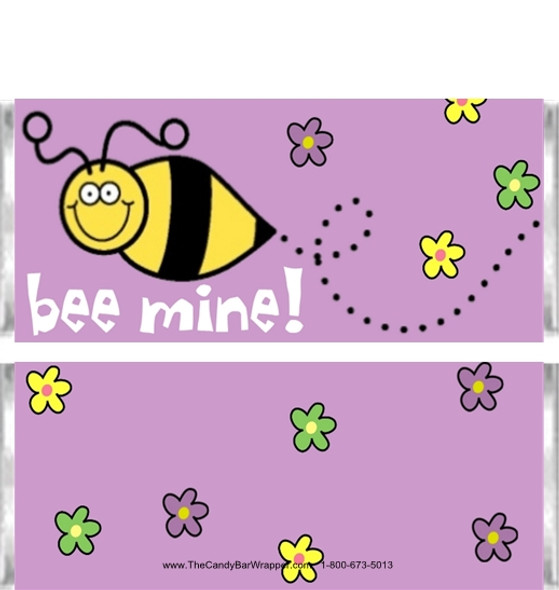 Bee Mine Candy Wrappers